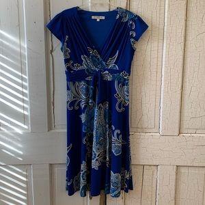 Evan Picone blue print dress Size 12